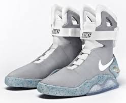 nike air mags. these are the real deal they light up and laces do adjust themselves according to how you want them fit aka \ nike air mags