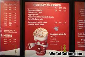 starbucks hot drinks menu.  Drinks 2013 Drink Menu Closeup  For Starbucks Hot Drinks Menu S