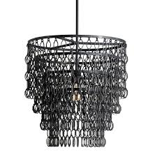 industrial metal link chandelier