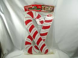 Plastic Candy Cane Decorations Yard Art Christmas Candy Canes Decorations Plastic 60 Tall New 59