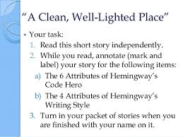 a clean and well lighted place sample essay compare contrast personal narrative essay thesis examples