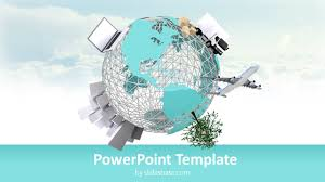 3d Small World Powerpoint Template