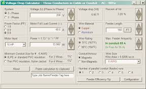 mc group electrical calculation software electrical calculation software voltage drop calculation software