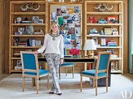 decorated office. Fashion Impresario Tory Burch In Her New York Office, Which Was Decorated  With The Help Office E
