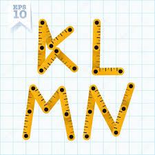 Graph Paper Letters Letters K L M N On A Blue Graph