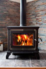 fireplace or wood stove