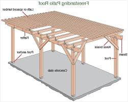 Free standing wood patio cover plans best of free patio cover