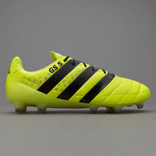 adidas ace. adidas ace 16.1 fg/ag leather - solar yellow/core black/silver metallic ace