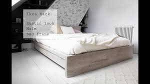 Ikea Hack, Rustic Look For Malm Bed Frame
