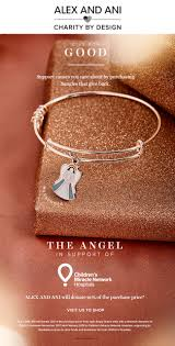 we are excited to announce that alex and ani has partnered with children s miracle network hospitals for a special holiday themed bracelet the angel charm