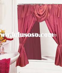 shower curtains with valance and tiebacks designer courtyard garden pool 11