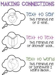 Text To Self Connections Anchor Chart Worksheets Teaching