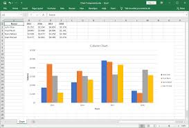 Excel Chart Examples Excel Chart Components Gembox Spreadsheet Example