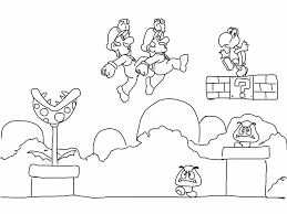 Super Mario Kart Coloring Pages Mario Mario Kart Coloring Pages