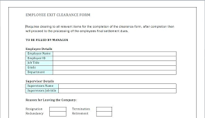 Employee Clearance Form Adorable Employee Exit Report Template Fresh Best S Of Employment Forms