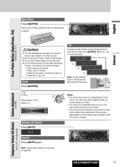 panasonic cq c7105u support and manuals for the following cases the face plate automatically closes temporary volume off level can be specified a page 29 cq c7205u c7105u general 15 the