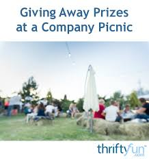 Giving Away Prizes At A Company Picnic Thriftyfun