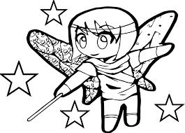 Anime Chibi Magic Girl Coloring Page Wecoloringpagecom