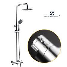 Duschsystem Mit Thermostat Duschset Regendusche Ohne Armatur Duscharmatur überkopfbrause Handbrause Chrom Homelody