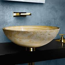atelier luna yellow dual textured bathroom vessel sink