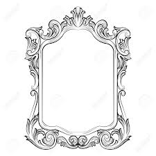 mirror frame drawing. Delighful Drawing 1300x1300 Baroque Rococo Mirror Frame Decor Vector French Luxury Rich Intended Drawing 0