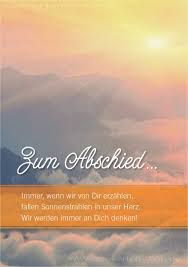 Doppelkarte Trauerkarte Karte Zum Abschied Mit Passendem Spruch