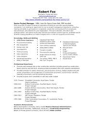 Architectural Project Manager Resume Job Description Bob Fox Project Manager Resume Aug 2010