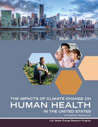 global environmental health newsletter flyer about the impacts of climate change on human health int he united states