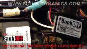 install the original backoff brake light module install the original backoff brake light module