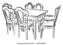 furniture clipart black and white. Wonderful Furniture Clip Art Dining Room Furniture Clipart Dinner Table Freeuse  Download Throughout Clipart Black And White