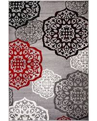 red black and white area rug new summit elite s 53 moroccan madallions gray white black