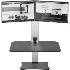 adjustable standing desk dual monitor. Simple Monitor Click To Enlarge And Adjustable Standing Desk Dual Monitor G
