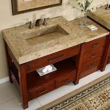 stylish modular wooden bathroom vanity. Silkroad 56 Inch Modular Bathroom Vanity Granite Top HYP 0217 Inside With Plan 4 Stylish Wooden