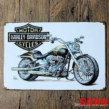 harley davidson motorcycles metal sign