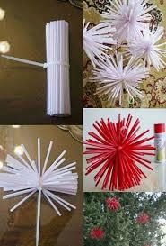 Basteln Mit Strohhalmen 43 Tolle Ideen Für Weihnachtsdeko