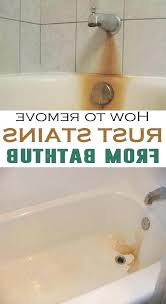 how to remove rust stains from porcelain bathtub how to remove rust stains from bathroom tiles