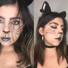 black e cat makeup with an extra touch