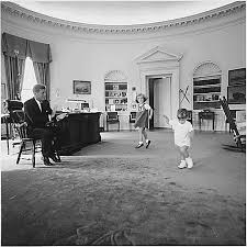jfk years in office. JFK\u0027s Children, Caroline And John Jr., Play In The Oval Office At Jfk Years A