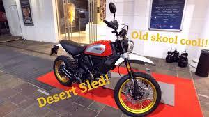 ducati scrambler desert sled first look eicma 2016 youtube