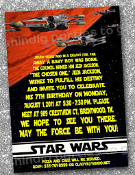 Star Wars Birthday Invitations Templates Free Star Wars