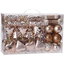 Amazoncom Sea Team 72Pack Assorted Shatterproof Christmas Balls Christmas Ornament Sets