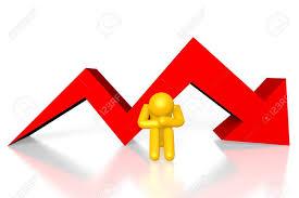 Arrow Chart 3d Crisis Down Arrow Chart