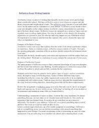 Reflective Essay Example Reflective Writing Essays Sample Reflective