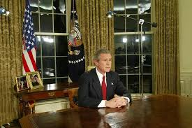 george bush oval office. Wonderful George US President George W Bush Addresses The Nation March 19 2003 In  Oval Inside Office V