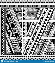 полинезийская этническая татуировка рукава стиля иллюстрация вектора
