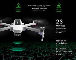 flycam Hubsan Zino quay video 4K/30fps, gimbal 3 trục, thời gian bay 23  phút