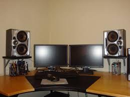 speakers desk. studio monitor stands for desk speakers