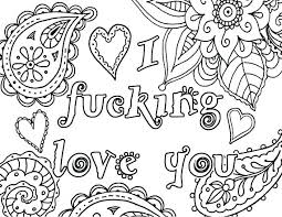 I Love You Coloring Pages For Adults Mycoloring