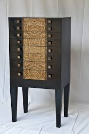 hand made sleek modern black and burl jewelry armoire by heller