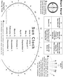 Science Activity Sun Clock Diagram Exploratorium